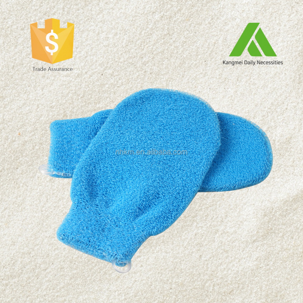 PE Silk Tough Bath Mitt/Bath Gloves
