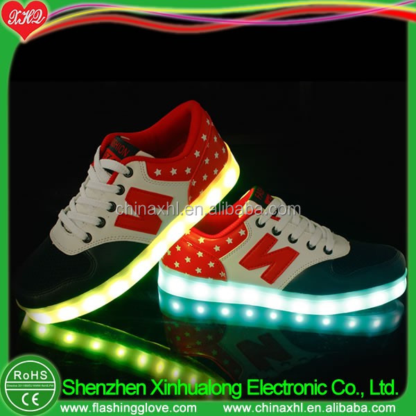 Casual style flashing LED light shoes LED shoes