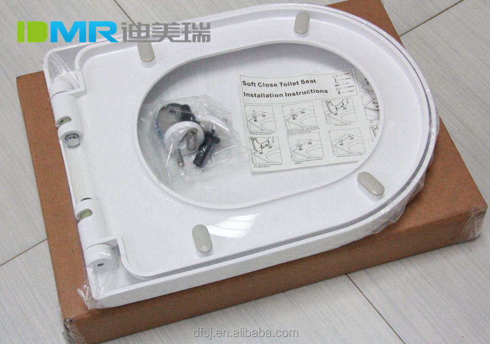 2016 luxury beautiful glossy good quality duroplast 89 PP wc toilet seat cover