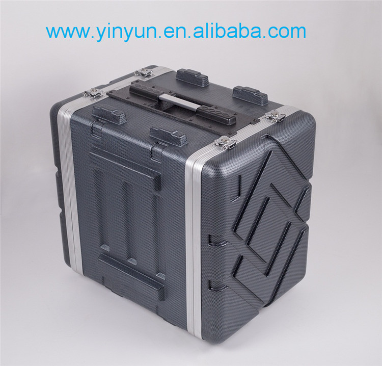 High grade 10 U (10 Space ) Abs Rack Case 17 inch Amplifier Rack Case/Portable flight amplifier rack case