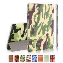 8 Colors Multicolor Soft Leopard Camouflage Wood UK Flag PU Leather Case Smart Magnetic Flip Cover for iPad Air