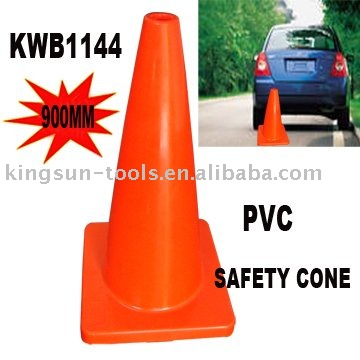 900mm PVC Traffic Safety Cone Without Reflective Band