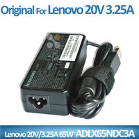 Genuine laptop ac dc adapter charger 20V 3.25A for Lenovo Ideapad Yoga 13 ASLX65NDC3A power supply adapter USB port