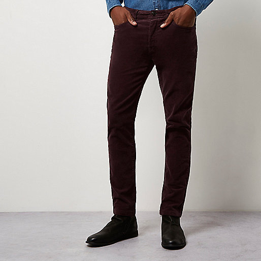 China manufacturer mens Red skinny corduroy chino trousers Slim Fit Men Casual Chino Pants