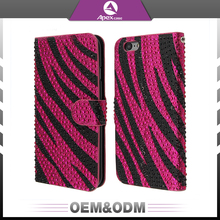 High quality funky stripe style waterproof sparkle bling bling diamond mobile phone case custom