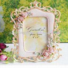resin European pastoral&rose picture frame photo frame crafts for home decoration
