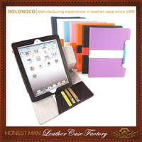 Separable Wallet leather flip case for IPAD 2 ,for IPAD 3,separable case 360 degree rotation leather tablet case