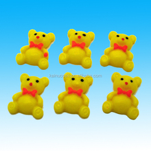 50Pcs Yellow Cheap Tie Bear Flatback Resin Cabochons