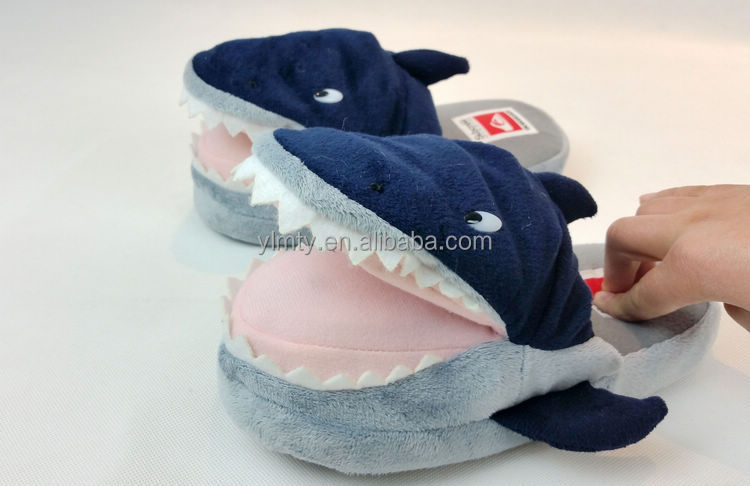 Wholesale custom fish shaped cozy pop up pals slippers