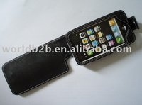 leather case for iphone 3G with clasp (new&hot)