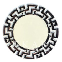 Curved Wall Gold Deco Sunburst Convex Hair Salon Mirror
