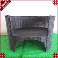 Indoor eco-friendly rattan decorative cat tree house cage pet dog sleeping bed