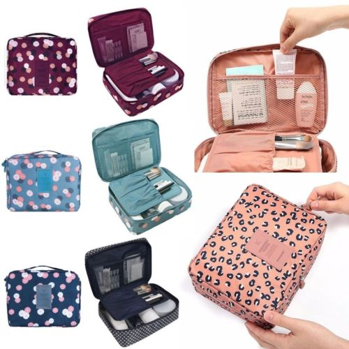 Zipper Makeup bag Neceseries Cosmetic bag dot beauty Case Make Up Tas Purse Organizer Storage Travel Wash pouch