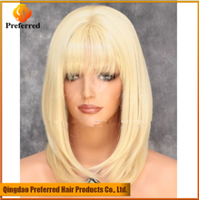 High quality and factory price honey blonde human hair full lace wig