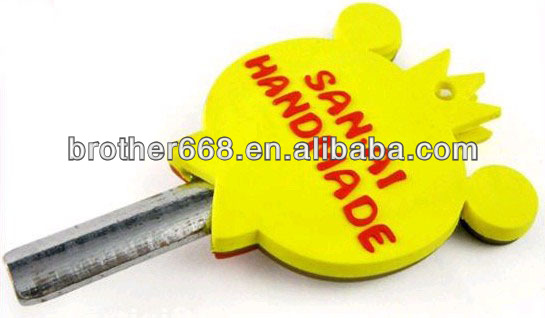 customized logo double sides 2D soft pvc Key Cover/cap