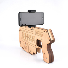 Bluetooth AR Gun Shoot Games Controller for Cell Phone 3D AR Gun Games Wooden Toy Gun