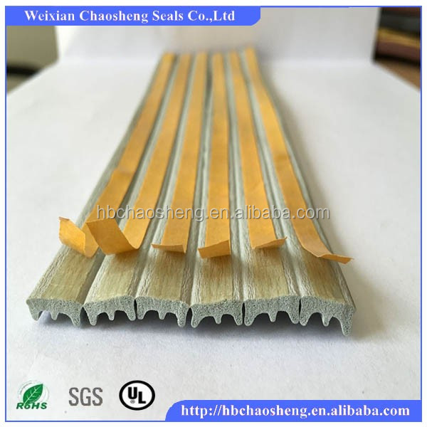 Self adhesive dust-proof soft foam rubber strip with adhesive tape
