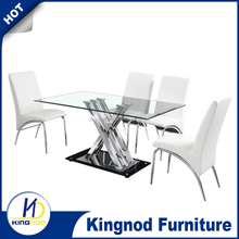 tempered glass dining room table/long dining room tables