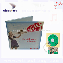Puberty ceremony invitation cards with mini sound chip/module