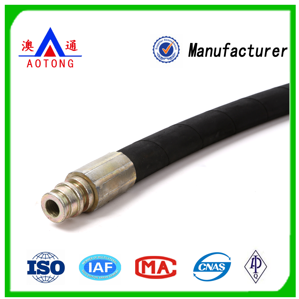 High Pressure Hydraulic Rubber Hose for Oil /Air/Water Delivery High Tensile Steel Wire Spiraled