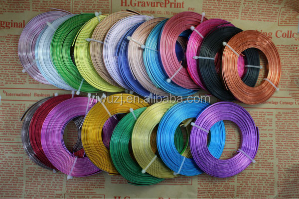 2017 fashion colored aluminium wire for jewelry maker and craft making