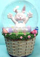 polyresin easter gift water ball