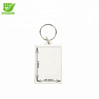New Custom Shape Clear Plastic Acrylic Photo Keychain