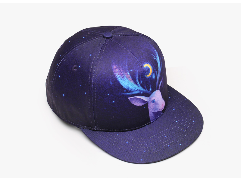 KaPin 3D Deer printing Cotton European Popular Hip Hop Boys Girls Snapback Hats Shiny Color Baseball Cap