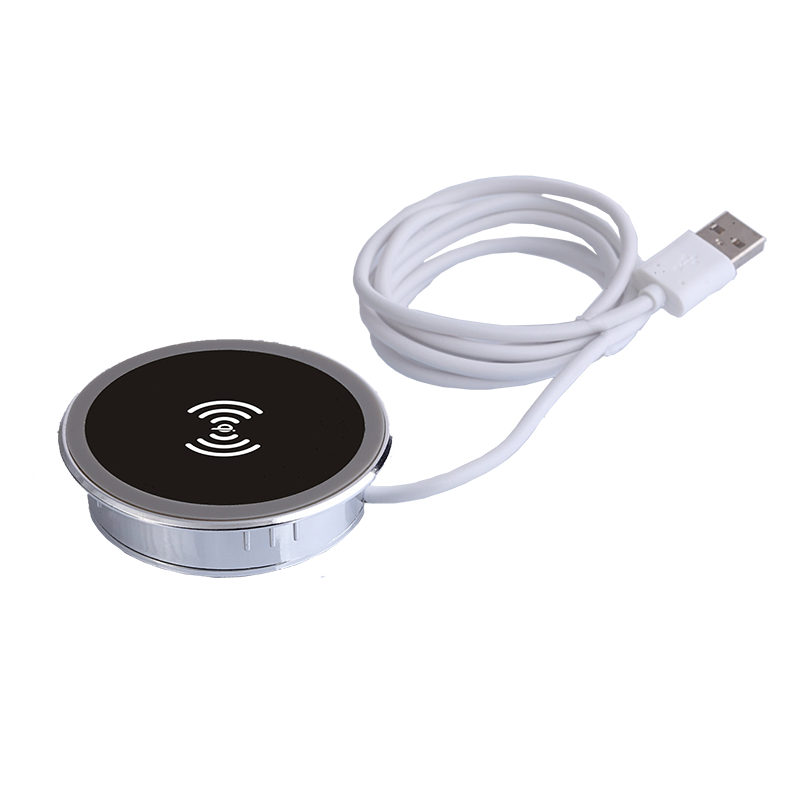 Embedded in coffee shop bar and office table desktop QI wireless charger furniture
