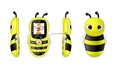 New design low price Cute BEE Style MP3 MP4 Disco Light mini mobile bar phone Cute BEE Style CCT-K1