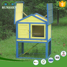 Asphalt Roof Custom Rabbit Hutch With Wooden Pet Cage For Rabbit