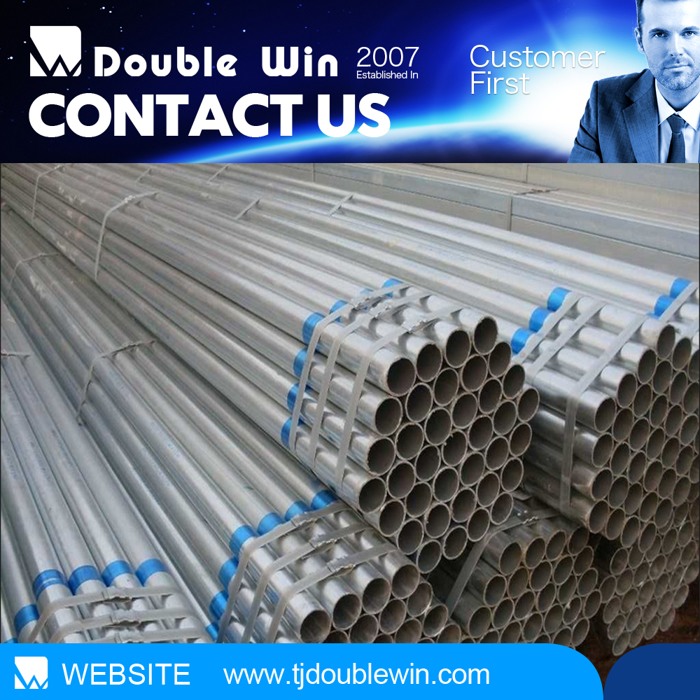 trade assurance supplier chilled water galvanzied pipes weld pre galvanized steel pipe/tube