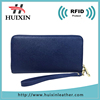 China supplier Blue long wallet custom elegance wallet leather lady wallet
