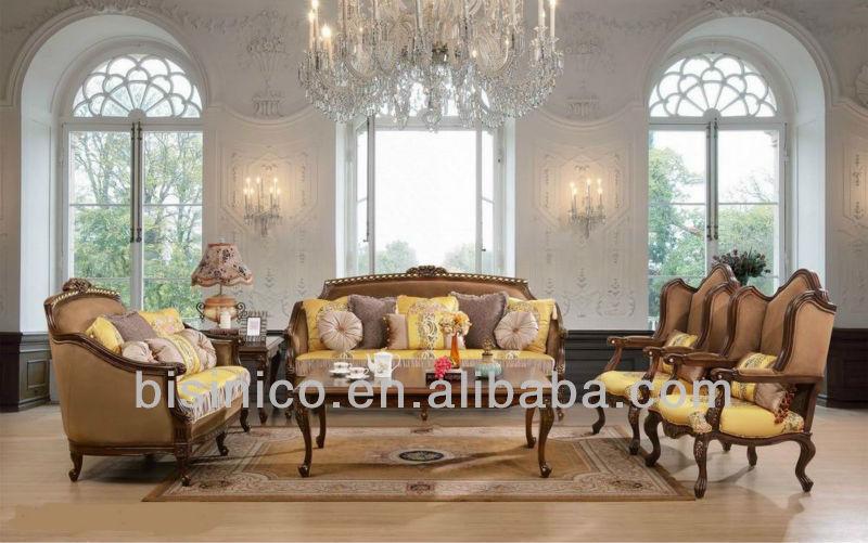 Antique Living Room FurnitureLuxury Spanish Style Sofa SetsClassic European