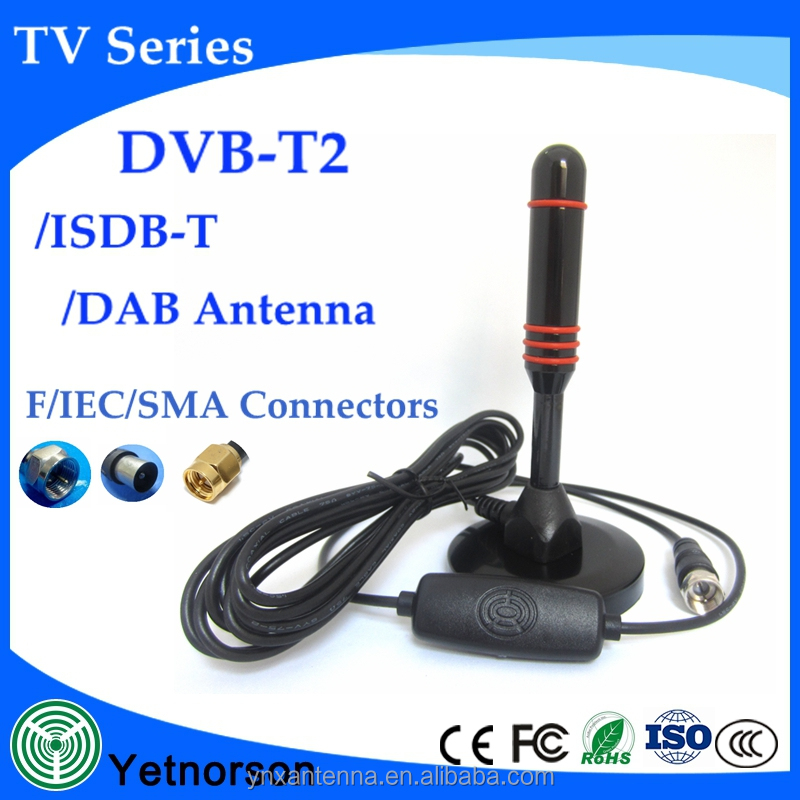 High-power DVB-T antenna Strong magnetic base TV antennas with amplifier