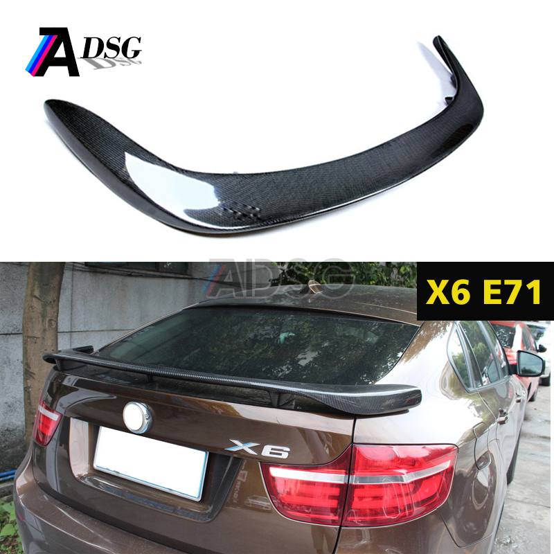 X6 carbon fiber spoiler for BMW rear trunk spoiler E71 E72