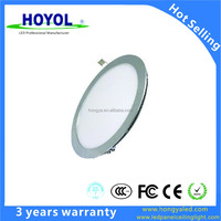 led ceiling panel light 3W 6W 12W 18W 3000K/4000K/6000K Adjustable AC85-165V Silver frame Flat round led panel light