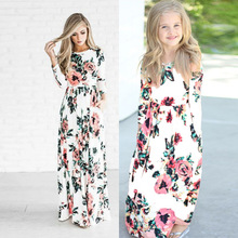 Women Girls Family Clothes Mother Daughter Matching Boho Floral Long Maxi Dress (this link for kids)
