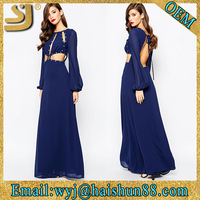 Best selling women simple long chinese traditional fancy dress, American design maxi dress