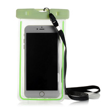 Mobile Phone IPX8 PVC Waterproof bag/CASE for IPHONE 6 / samsung galaxy S6