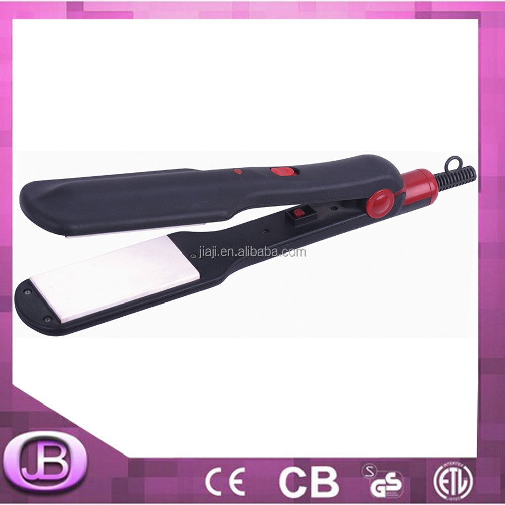 professional black wet and dry hair straightener