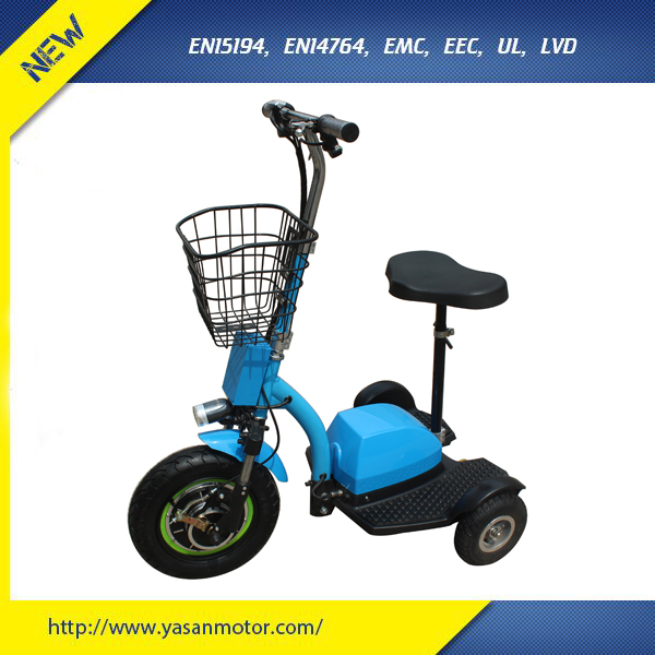 500W 48V 12Ah Mobility Scooter 3 Wheel For Disable