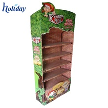 Retail Supermarket Custom Cardboard Floor Display Stand, Factory Supplier Cardboard Display Stand
