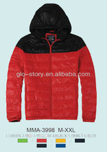 2013 new padded jackets for men light weight