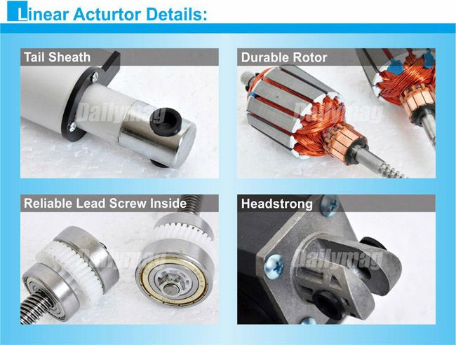 Linear Actuator Lawn Tractor : Waterproof small electric linear actuator for lawn mower