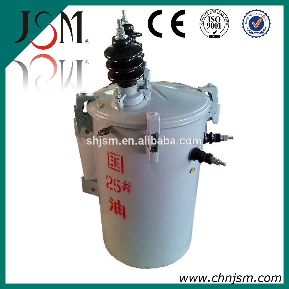 Poled mounted 11kv single phase transformer 11kv 63KVA ONAN DP