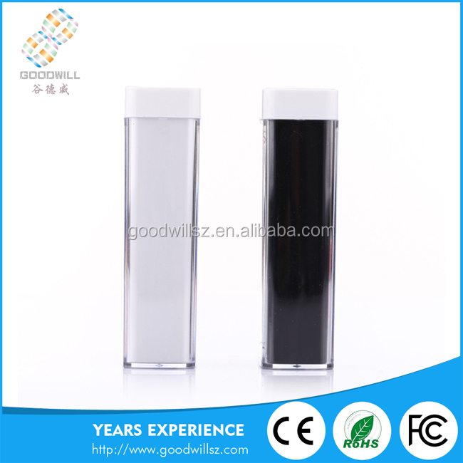 China manufacturer 2600mah Lipstick Power bank