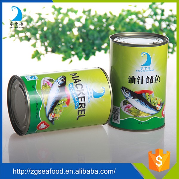 High quality canned mackerel fish in Oil/Tomato Sauce/Brine