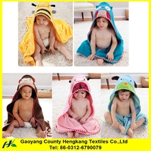 China high quality lovely terry cotton bathrobe with animal hood kids