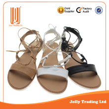 Shoes factory new design fashion cheap lace up sandal